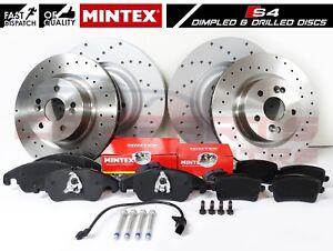 FOR AUDI S4 B8 S5 V6 V8 FRONT REAR PERFORMANCE BRAKE DISCS MINTEX BRAKE PADS