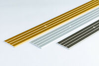 FLAT ALUMINIUM DOOR FLOOR EDGING BAR-TRIM-THRESHOLD- 40mm - various colours -1 M