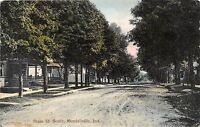 Indiana In Postcard KENDALLVILLE 1909 STATE STREET South Homes