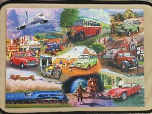 Iconic Engines Complete Gibsons 1000 piece Jigsaw Puzzle completed oncd