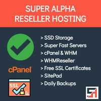 Super Alpha Reseller Hosting - Unlimited Everything, Fast, Free SSL's + More!