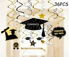 36Pcs 2020 Graduation Party Supplies Decorations Hanging Swirl Reusable