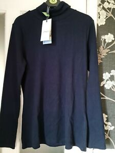 JOULES WOMENS CLARISSA ROLL NECK JERSEY TOP. BNWT. COLOUR. FRENCH NAVY. SIZE. 14