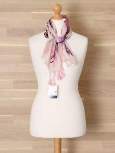 """New Patra Pretty Pink Silk Georgette Scarf w Corner Tassels 40"""" Square"""