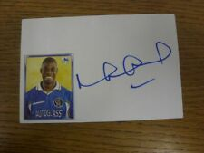 1997/1998 Autographed White Card: Chelsea - Duberry, Michael  (Sticker laid down