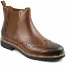 Clarks Mens Chelsea Boots BATCOMBE TOP Dark Tan Leather UK 10 / 44.5