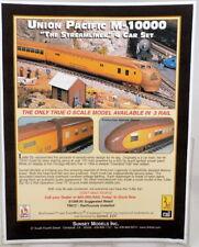 MM Sunset Models 3-Rail Union Pacific M-10000 Passenger 1 of 90 Sets w TMCC