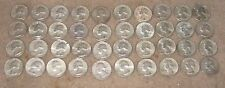 Assorted Roll of 1964 Washington Silver Quarters Real Photo of Quarters Assorted