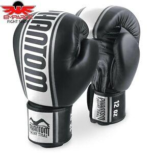 Fightinc Muay Thai Boxhandschuhe Shadow 10 12 14 16oz ideal f/ür Thaiboxen K1 MMA Kampfsport matt schwarz