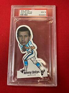 1972 NFLPA JOHNNY UNITAS Vinyl Stickers PSA 9 Baltimore Colts ~SC11-677