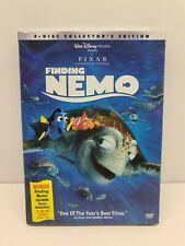 Disney's Finding Nemo (2003, DVD, 2-Disc Set) w/ Slip Cover & Bonus CD-Rom Game