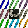 """4mm glass Cube beads - approx 12-13"""" strand, 75-80 beads, craft jewellery making"""