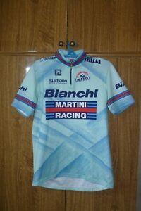 Santini Racing Cycling Jersey Bianchi Shirt Martini Vintage 90s Men Size 2XL