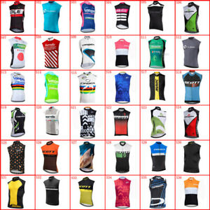 2021 Mens Team Cycling Jersey Cycling Sleeveless Jersey Vests Bicycle Jerseys