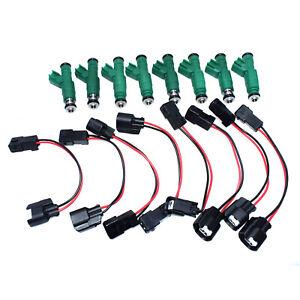 Set 8 Fuel Injector & Pigtail Harness For Dodge Chrysler Voyager Caravan 3.3L V6