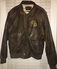 Mens Adler Bomber Jacket Coat Brown Leather B-52 Type 6501 XL