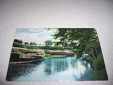 1908 DEICHMAN'S CROSSING WAKARUSA RIVER LAWRENCE KANSAS KS. ANTIQUE POSTCARD