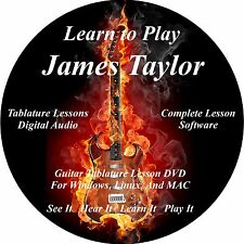 James Taylor Guitar TABS Lesson CD 84 Songs + BONUS!!