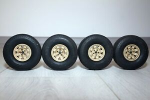 Vintage Rare Used Tamiya 1/12 Lamborghini Cheetah 4 Wheels and tires