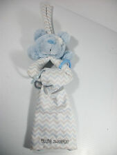 Nat & Jules Little Sweetie Blue Bear Rattle & Burp Cloth Lovie Lovey New No Tags