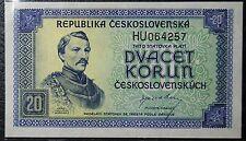 Czechoslovakia- 20 Korun ND(1945) Pick#61a- issued note UNC.