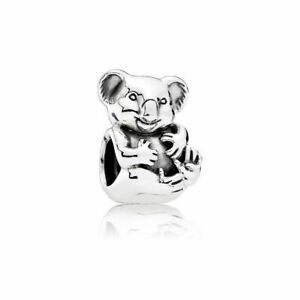 Genuine PANDORA Charm Sterling Silver  Cuddly KOALA Retired 791951