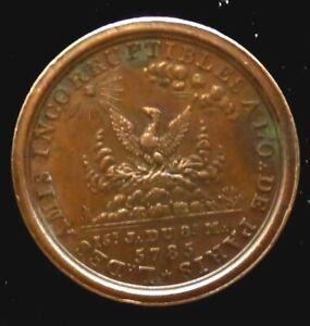 Maconnerie LES AMIS INCORRUPTIBLES 1855 cuivre lab 121/F5499 8,57g X 27mm