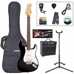 Encore E6 Electric Guitar Outfit - Black Learner Beginner Starter Package