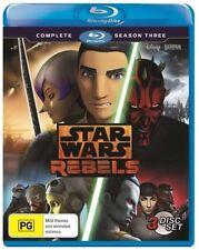 Star Wars Rebels : Season 3 (Blu-ray, 2017, 3-Disc Set)