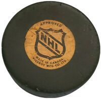 MONTREAL CANADIENS NHL VINTAGE APPROVED GAME PUCK VICEROY MFG. 🇨🇦 FADED LOGO!