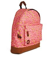 NEUF MI-PAC SAC A DOS COLLEGE LEOPARD ROSE JAUNE FLUO BACKPACK PINK LEOPARD