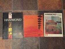 Hammond Organ Service Manual T-Series VS series info sheet 9000 series schematic