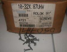 "New listing 100 #10-32 x 7/8"" Fine Thread Washer Machine Screw Hex Washer Zinc Plated Screws"