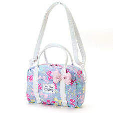Hello Kitty 2Way Boston Shoulder Bag Handbag  Ribbon Sanrio Japan