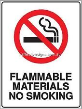 Flammable Material Sign Safety Signs Australian Made Quality Printed Sign