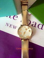 Kate Spade 1YRU0239 Gold Dot  Leather 34MM Watch NWT.
