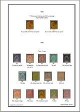 Album de timbres bur Indochinois 1902-1919 à imprimer