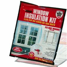 Isolamento delle finestre KIT SHRINK Fit con doppi vetri Pellicola GELO FREDDO Immersione excluder