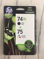 HP 74XL/75 Combo‑pack Ink Cartridge  Warranty Ends June 2017