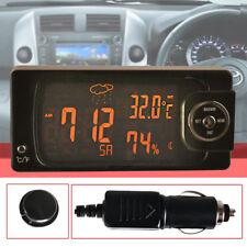 Auto KFZ Digital Uhr LCD Thermometer & Hygrometer 12V Multifunktion Neu