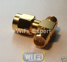 RP-SMA male to two 2 RP-SMA female T Connector Adapter Split One in 2 USA