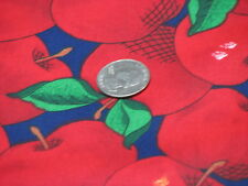 1 set of 2  Red Apple Pot Holders on Navy Blue Cotton Fabric Sewing apples Maine