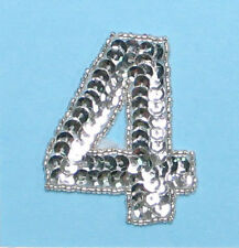 SEQUIN BEADED NUMBER FOUR APPLIQUE 2316-F