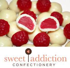 4.5kg White Chocolate Covered Raspberries - Raspberry Party Choc AUSTRALIAN MADE