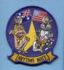 ANYTIME MATE GRUMMAN F-14 TOMCAT Down Under US Navy Fighter Squadron Patch