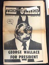 """SEPT 20 1968 """"The East Village Other"""" underground newspaper Deitch Spain Bode"""