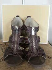 Michael Kors Michael Berkley Cinder (Gray) T-Strap Dress Sandals Size 9.5