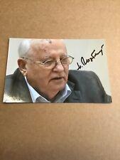 Mikhail Gorbachev, President of the Soviet Union, signed photo