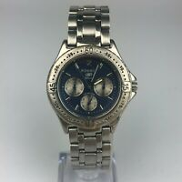 Fossil Mens Blue Dial Silver tone Collectible Watch BQ-9035