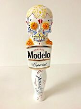 "Modelo Especial Dia de los Muertos Ceramic Tap Handle Skull NEW F/S 7.25"" Short"